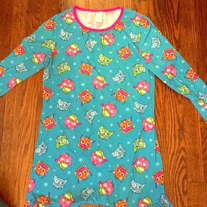 Blue owl sleeping gown